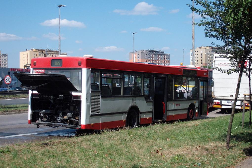 autobus miejski, pożar