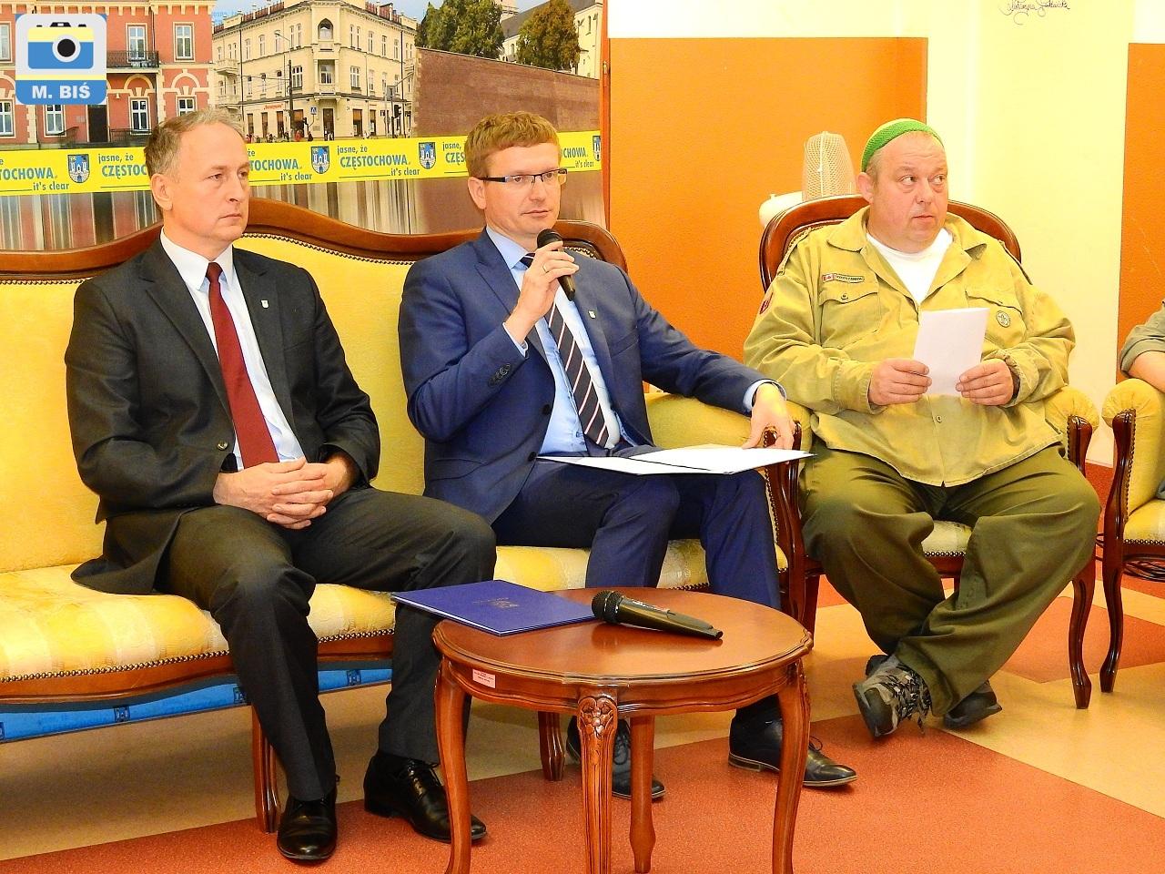 Prezydent Matyjaszczyk i Jarosław Marszałek