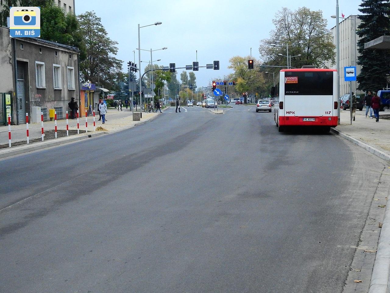 Autobus miejski na ul.Sobieskiego