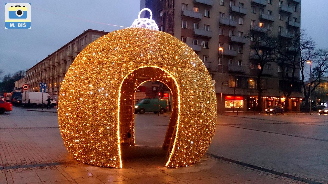 Pl.Biegańskiego - ozdoba świąteczna