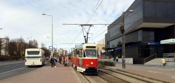 Zabytkowy tramwaj na linii 2