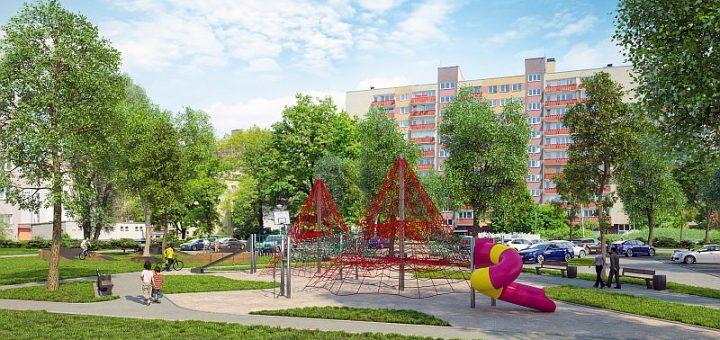 Wizualizacja placu zabaw przy Perepeczki | © BPID KOMA