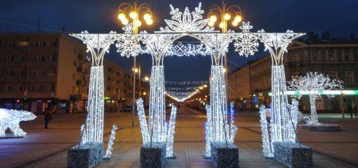 Świąteczna brama na Placu Biegańskiego