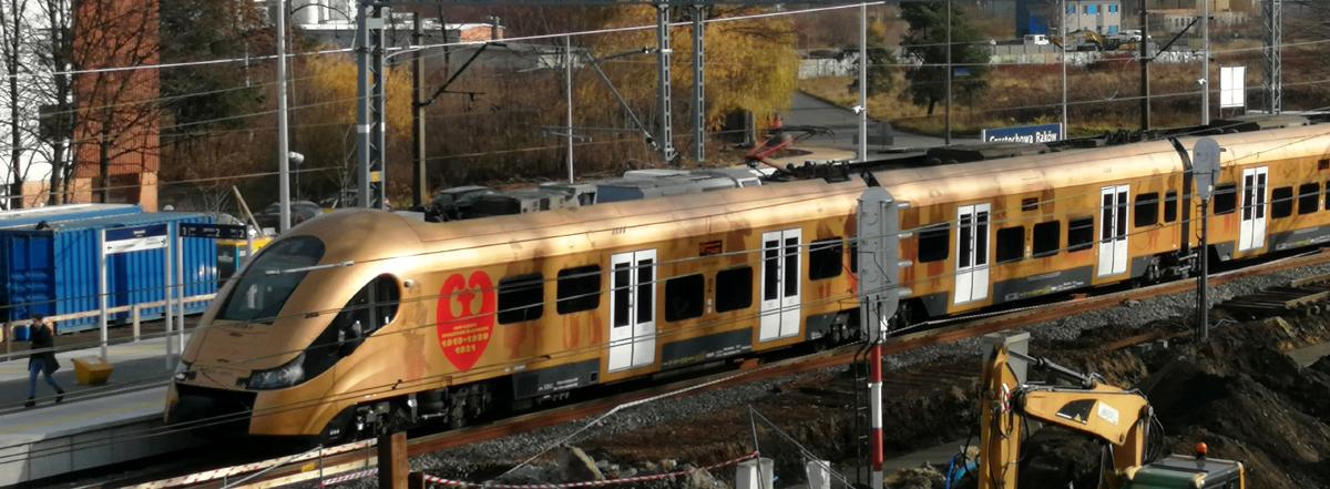 Złoty pociąg na stacji Częstochowa Raków