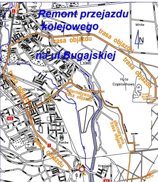 Objazd ulicy Bugajskiej