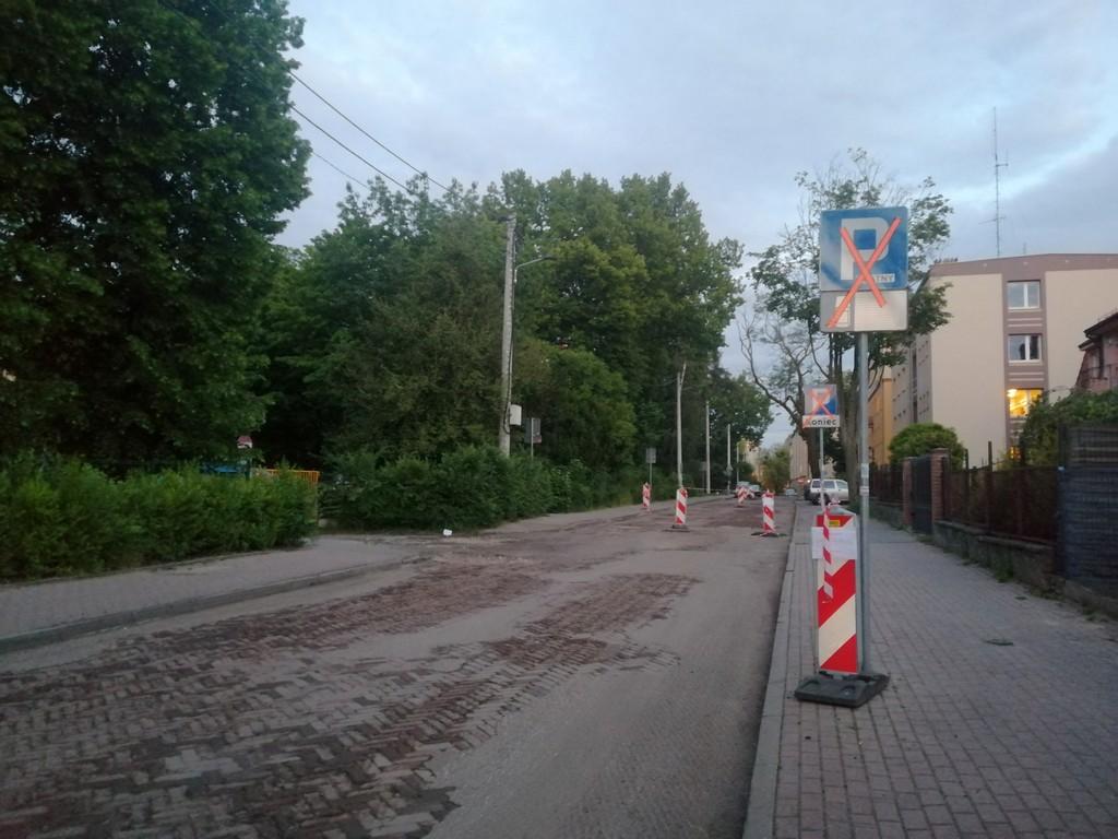 Ulica POW w trakcie remontu